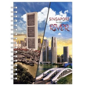NBC0061-SG26 - A5 Notebook Singapore River Then and Now